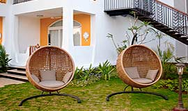 Garden view at Acron Waterfront Resort in Goa